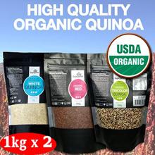 1KG x 2 Organic Quinoa USDA Organic Certified + FREE SHIPPING! ★ SUPERFARM