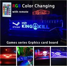 Rgb Graphics Card Holder PUBG PlayerunknownsBattlegrounds GTA5 H1Z1 DOTA2 CS Decoration Multi Color
