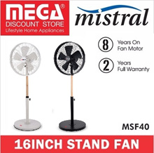 MISTRAL MSF40 16INCH RETRO STAND FAN / LOCAL WARRANTY