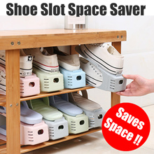 Bundle of 10 Shoe Slot Space Saver Organizer Shoe Rack Cabinet Stacker