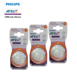 Philips Avent Natural Teats 6M+ Thick Feed Triple Pack