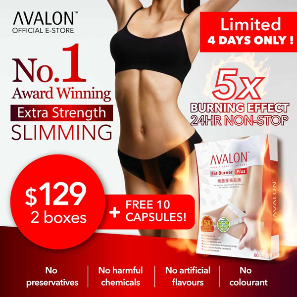 FREE 10 CAPSULES! Award Winning Safe Effective Slimming AVALON™ Fat Burner Plus Deals for only S$89 instead of S$0