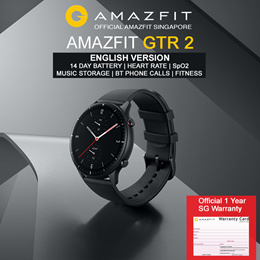 [Official Amazfit Singapore] AMAZFIT GTR 2 Music Storage Waterproof GPS Smart Watch | English
