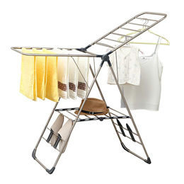 Stainless Steel  Laundry Clothes Drying Rack – Indoor and Outdoor Use - Foldable for Easy Storage