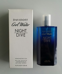 PERFUME DAVIDOFF COOL WATER NIGHT DIVE MEN 125ML EDT SPRAY TESTER PACK FRAGRANCE