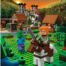 1100 pcs Compatible  Minecraft Building Block My world My village Brick toys for children