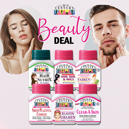 [21st Century] Beauty Deal -Fairen/Elastin/Sheep Placenta/Hair Skin Nails/Hair Nutrix/Clear-a-skin