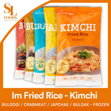 [$3 Offer] Im Fried Rice - Kimchi / Bulgogi / Crabmeat / Japchae / Buldak - Frozen