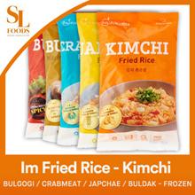 [$3 Offer] Im Fried Rice - Kimchi / Bulgogi / Crabmeat / Japchae / Buldak - Frozen