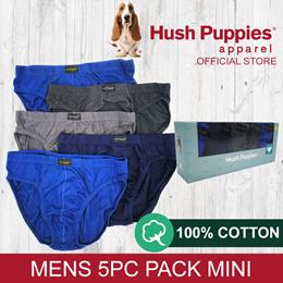 HUSH PUPPIES 5PCS MENS BRIEFS MINI - #679417