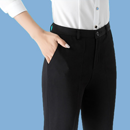 Suit pants Women s autumn/winter thick black straight pants new Spring lady to work professional pan