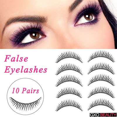 e790c55ea76 10 Pairs Lady s Beauty fashion cosmetic tool thick Eye Lashes Extension  Makeup Long False Eyelashes