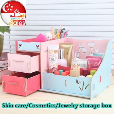 ♥Wooden Skin care storage box ♥ Cosmetics Storage box ♥ Drawer storage Organizer for Jewelry♥