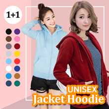 SPECIAL PRICE !! BUY 1 GET 1 - ALL VARIOUS BASIC UNISEX JACKETS HOODIE ZiPPER NEW ADD ON KOLD COLL