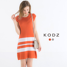 KODZ - Skater Dress with Stripe Detail-170808