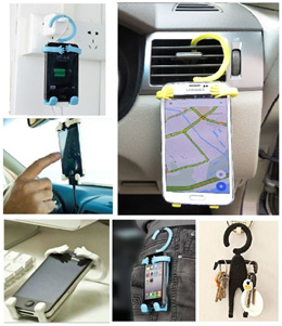 Flexible Silicon Phone Hanger / Universal Flexi Holder / All Mobile Phone Handphone / Multi purpose / Car / Office / Key Holder / Colourful / Cute / High Quality