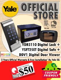 Yale YDR3110 Digital Door Lock + YSFT25ET Digital Safe + DDV1 Door Viewer - Local Yale Warranty