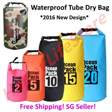 Free shipping! Waterproof Tube Dry Bag / Sling Bag / Sport Waist Pouch / Nature Hike Dry bag