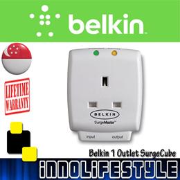 [Authentic] Belkin 1 Outlet SurgeCube. Lifetime Belkin Warranty. F9H110vsaCW