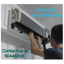 [Pure Cool] Cheapest Professional General Aircon Services/Servicing With NO ADDITIONAL COST!!