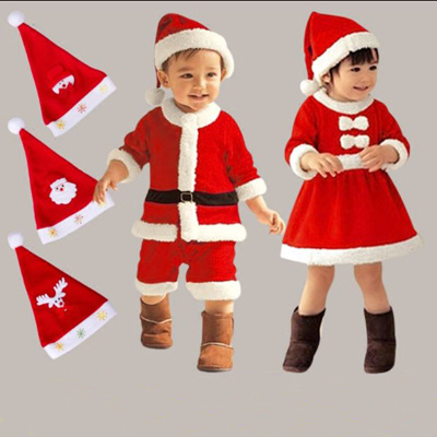Kids Christmas Santa Costume Toddler Santa Claus Costume Suit with Hat Child Xmas Cosplay Outfit  sc 1 st  Qoo10 & Qoo10 - Kids Christmas Santa Costume Toddler Santa Claus Costume ...