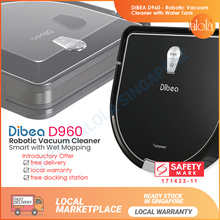[10.10 SALE ▼72%] Dibea D960 D-Master Robot Vacuum Cleaner with Water Tank . Singapore Safety MarK