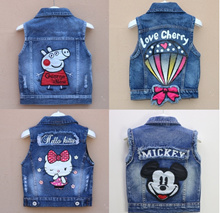Peppa Pig jean vest jacket for baby toddler 85cm to 135cm
