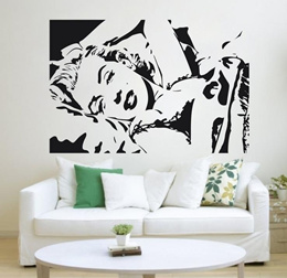 wall sticker Marilyn Monroe 1107 the atmosphere of the fashion design manufacturers supply  outlet w