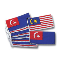 Flag line 6&quot  x 12&quot  Malaysia &amp  Johor Bunting (Bunting02) F082