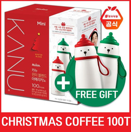 KANU Coffee Mix Mini 100T/Black Coffee/Korean/Decaffeinated/Christmas Gift/Winter/Instant Coffee