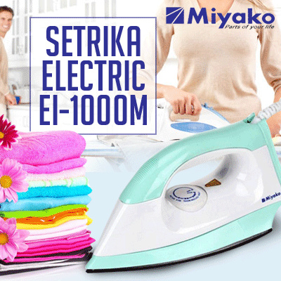 Miyako EI-1000 M EI-1008 M Setrika Electric Deals for only Rp109.000 instead of Rp109.000