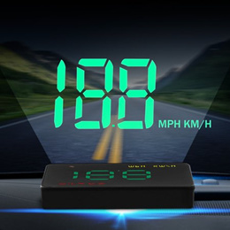 Car Head Up Display 3.5&quot  Universal GPS HUD Vehicle Projector Driving Information-Speed Data, Ov