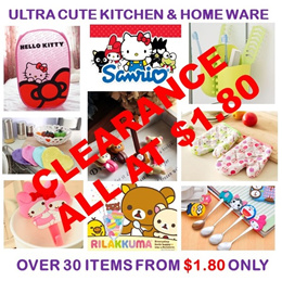 [ORTE] ALL AT $1.80★Sanrio Home n Kitchen Innovative Wares SALE★Ultra Cute★Durable★Value
