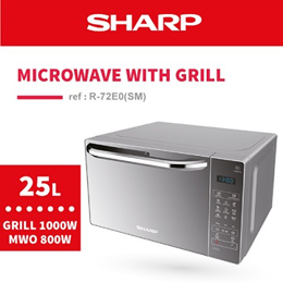 [SHARP OFFICIAL] Microwave Oven with Grill R-72E0(SM)