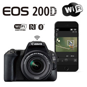 Canon EOS 200D (black white) body kit  or  body+40mm 18-55mm LensKit  wifi bluetooth  25 Languages