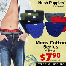 [Use Qoo10 Cart Coupon] HUSH PUPPIES MENS SPECIAL ! HUSH PUPPIES MENS COTTON SERIES   FREE DELIVERY