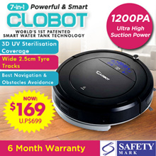 [INTRODUCTORY OFFER!] 7-in-1 CLOBOT ROBOT VACUUM [Designed in Germany] w/ FREE SMART WATER TANK!