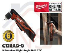 Milwaukee C12RAD-0 Cordless Right Angle Drill M12/ Right Angle Driver