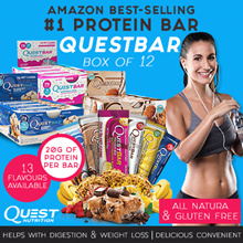 Quest Bar (12 Bars Per Box) Multiple flavours to choose from! Best Price Guaranteed