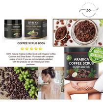 100% Natural Arabica Coffee Scrub – Best Acne Anti Cellulite and Stretch Mark Treatment