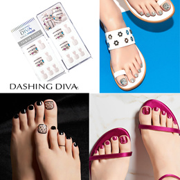★Global NO.1★Authentic★2018 New Dashing Diva Magic Press Pedicure Patch/Nail Pedicure Tips