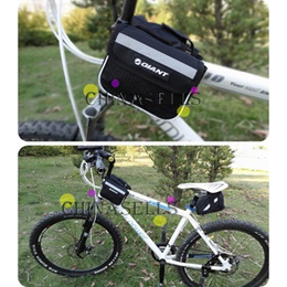 b62759cf426d 1pcs free ship bicycle bag cycling bicycle frame pannier front tube bag  bike bag nylon black