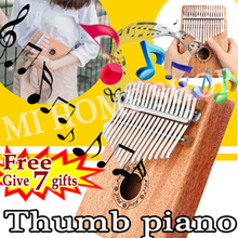 Mahogany Kalimba Acoustic Thumb piano 10/17 Keys easy to learn African Thumb Piano Perfect Gift