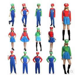 Halloween costume cosplay performances costumes Cartoon Super Mario Mario costume festival clothing
