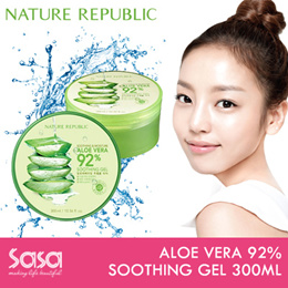 ♥ NATURE REPUBLIC ♥ ALOE VERA 92% SOOTHING GEL 300ML ♥