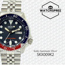 [SEIKO] SEIKO Diver Automatic Navy Blue Dial Mens Watch SKX009K2. Free Shipping!