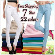 women casual pants/skinny pants Top Plus size Pants /Candy color pants/fair price no profits