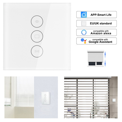 App EU wifi tuya smart touch curtain switch voice control by Alexa echo  Google Home phone control Fo