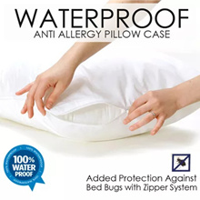 SOL HOME Waterproof Pillow Case - Anti Allergy Pillow Case. Bedsheet Prevention