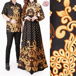 Couple Dress Alra Gamis Busui Batik Wanita dan Kemeja Sarimpit Pria